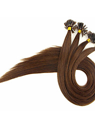 16-24Inch 40g-50g Italian keratin Nail Tip U Tip Hair Extensions 0.5g/s 100% Indian Human Remy Hair