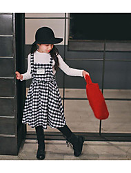 Girl's Casual/Daily Check Dress / Overall & JumpsuitCotton Summer Black