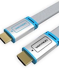 VENTION® HDMI Flat Cable with metal head Male to Male 1.4V 3D 1080P cabo HDMI for PC HDTV PS3 Xbox appletv(1.5M)
