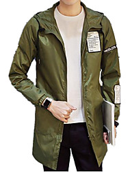 Men's Casual/Daily Simple Jacket,Striped Shirt Collar Long Sleeve Winter Wash separately Wash inside out Cotton Polyester Regular