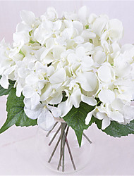 1Pc 6 Head Bouquet Bride Holding Flower Hydrangea Home Furnishing High Simulation Decorative Flower Vase