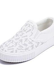 Jungen-Loafers & Slip-Ons-Lässig-LeinwandKomfort-Schwarz Weiß