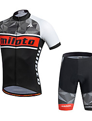Miloto Cycling Jersey with Shorts Men's Short Sleeve Bike Shorts Shirt Sweatshirt Jersey TopsQuick Dry Moisture Permeability Breathable