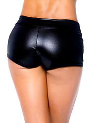 Para Mujer Un Color Poliuretano Legging,Charol