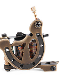 Solong Tattoo Custom Brass Tattoo Machine Gun Handmade 12 Wrap Pure Copper Coils for Liner M205-1