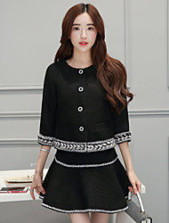 Sign # 3023 2016 new fall significantly thin fragrant wind ladies woolen two-piece suit women's tide