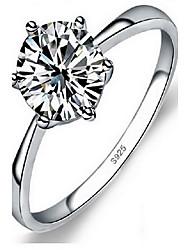 Ringe Ohne Stein Party Alltag Schmuck Sterling Silber Damen Ring 1 Stück,10 11 12 13 14 15 16.0 17 18 19 Silber