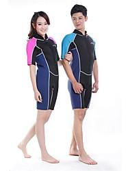 BlueDive® Unisexe 2mm Costumes humides Combinaison Courte Garder au chaud Séchage rapide Zip frontal zip YKK Sans couture Nylon Néoprène
