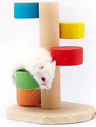 Rodents Cages Climbing Toy Wood Multicolor