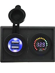 12v llevó adaptador USB voltímetro pantalla y 4.2a digital con panel de soporte de alojamiento para rv del carro del barco del coche