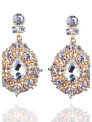 Europe And The United States Are Long Drop Shaped Diamond Earrings