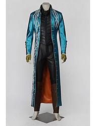 Вдохновлен Чувство долга Vergil видео Игра Косплэй костюмы Косплей Костюмы Однотонный Синий ДлинныеНакидка нагрудный знак Хакама штаны