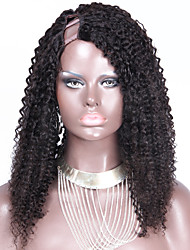 150% Density Afro Kinky Curly U Part Wig Human Hair Thick Mongolian Remy Virgin Hair 18Inch 1*4Inch Right Parting Upart Wig