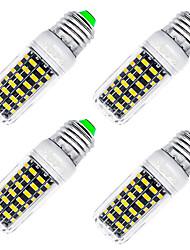 7W E26/E27 LED Mais-Birnen T 64 SMD 5733 560 lm Warmes Weiß Dekorativ AC 220-240 V 4 Stück
