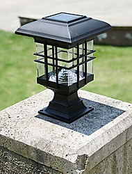 Solar Panel Lamp Post Column Headlights Fence Lamps Wall Lamp Headlamp Outdoor Garden Lights