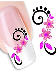 1sheet  Water Transfer Nail Art Sticker Decal XF1446
