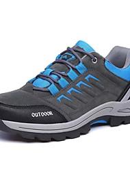 Masculino-Tênis-ConfortoRoxo Verde Militar Cinzento Claro-Couro Ecológico-Ar-Livre Casual Para Esporte