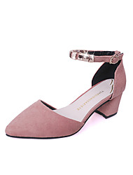 Women's Heels Spring Summer Fall Club Shoes PU Office & Career Casual Work & Safety Chunky Heel Block Heel PearlBlack Army Green Blushing