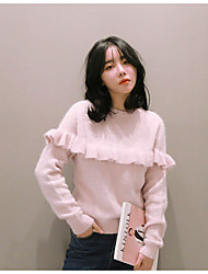 Han Guoguan network new winter mink cashmere pullover sweater sweet ladies College Wind