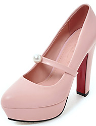 Women's Shoes Chunky High Heel Pointed toe Platform Pearl Pump More Color Available