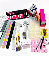 33Sets  Spill-Proof Posted 100pcs Nail Tips 8 Zebra Article Combination Brush PenS Sand Nail Kit