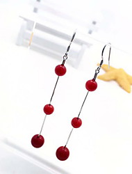 Non Stone Drop Earrings Jewelry Women Daily Casual Gem 1 pair