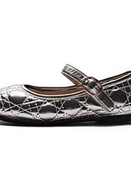 Girl's Flats Comfort PU Casual Black Gray