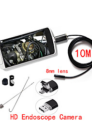 2in1 Android PC  HD 10M Long Endoscope camera Borescope Snake 8mm Lens 6 LED Waterproof Inspection Camera Borescope
