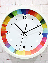 1pc Rainbow Color Clock Creative Fashion Simple Art Clock Ultra Quiet Room