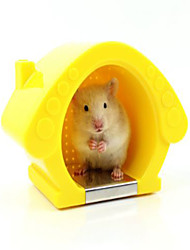 Rodents Hutches Plastic Yellow