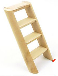 Rodents Cages Toy Ladder Wood Khaki