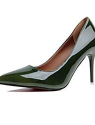 Women's Heels Spring Summer Fall Winter Comfort Light Soles PU Casual Stiletto Heel Black Brown Green