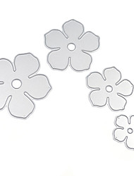 4Pcs Metal Flowers DIY Cutting Dies Die Cut Stencil Decorative Scrapbooking Craft