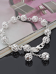 Strand Bracelet Silver Plated Fashion Heart Jewelry Silver Jewelry 1pc
