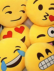 1Pcs  32Cm*32Cm*10Cm  Soft  Smiley Emoticon Round Cushion Pillow Sofa Stuffed Plush Toy Doll Random  Emoticon