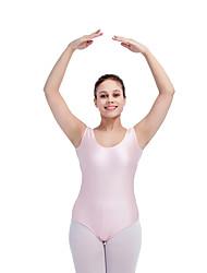 Ballet Leotards Women's Children's Training Nylon Lycra Mesh Splicing 1 Piece Sleeveless Leotard