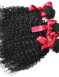 EVET Brazilian Curly Virgin Hair Extensions 3 Bundles Kinky Curly Human Hair Weave Brazilian Weft 100g/pc Free Shipping