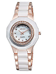 Women's Fashion Watch Quartz Japanese Quartz Ceramic Band Elegant Silver Gold Brand