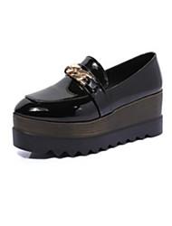 Women's Flats Spring Summer Fall Winter Comfort Light Soles PU Casual Flat Heel Chain Black Green