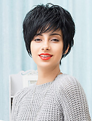 moda ligeiramente textura curta capless perucas de cabelo humano ondulado natural 2017
