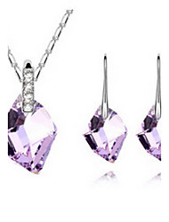 Women's Jewelry Set Crystal Love Crystal 1 Necklace 1 Pair of Earrings For Party Wedding Gifts