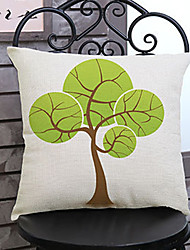 1 pcs Hand-painted tree printing Linen Pillow Case Animal Print Modern/Contemporary