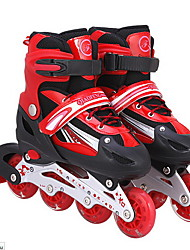 Adult children's skates full set of flashing round straight row roller skates