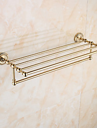 European Style Solid Brass Crystal Gold Bathroom Shelf  Bathroom Accessories