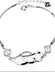 Women's Chain Bracelet Sterling Silver Natural Fashion Vintage Jewelry Silver Jewelry 1pc
