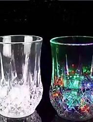 7 oz levou um copo plástico indutivo copo do arco-íris com a bateria para o suco vinho de fruta soda uso barra de casa