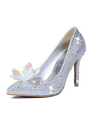 New product fine pointed high-heeled shoes with sequins crystal wedding shoes bride shoes for women's shoes