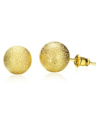 Stud Earrings Jewelry Women Daily Casual Copper Gold Plated 1pc Yellow Gold