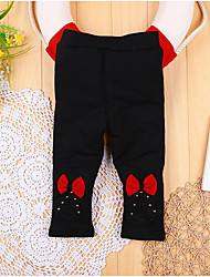 Baby Casual/Daily Solid Pants,Cotton Winter Black