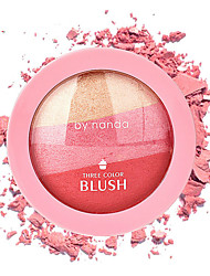 1Pcs 3 Colors By Nanda Baked Blush Makeup Cosmetic Natural Baked Blusher Powder Palette Charming Cheek Color Make Up Face Blush
